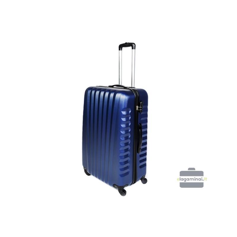 Didelis plastikinis lagaminas Gravitt 888-D Mėlynas