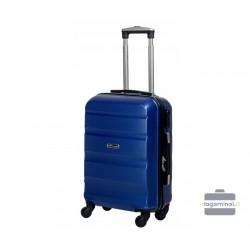 Mažas plastikinis lagaminas Gravitt Travel 710-M Tamsiai mėlynas