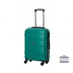 Mažas plastikinis lagaminas Gravitt Travel 710-M Žalias