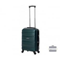Mažas plastikinis lagaminas Gravitt Travel 710-M Tamsiai žalias