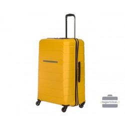 Didelis plastikinis lagaminas Burak PQ-D Geltonas
