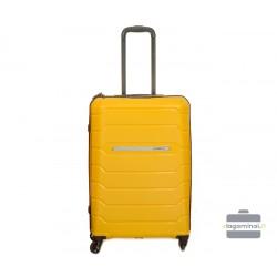 Vidutinis plastikinis lagaminas Burak PQ-V Geltonas