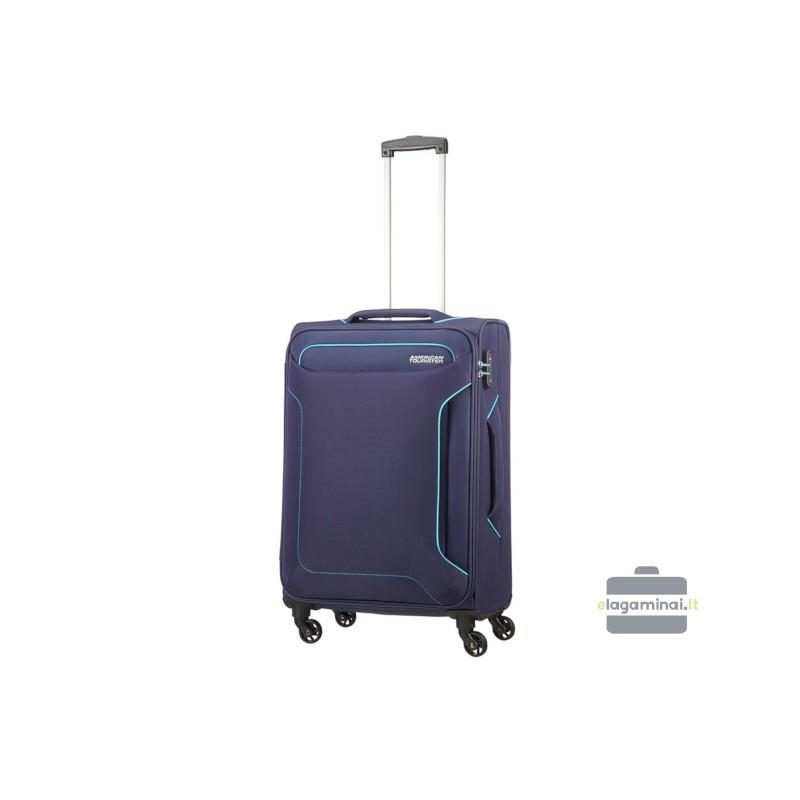 Vidutinis lagaminas American Tourister Holiday Heat V Tamsiai mėlynas
