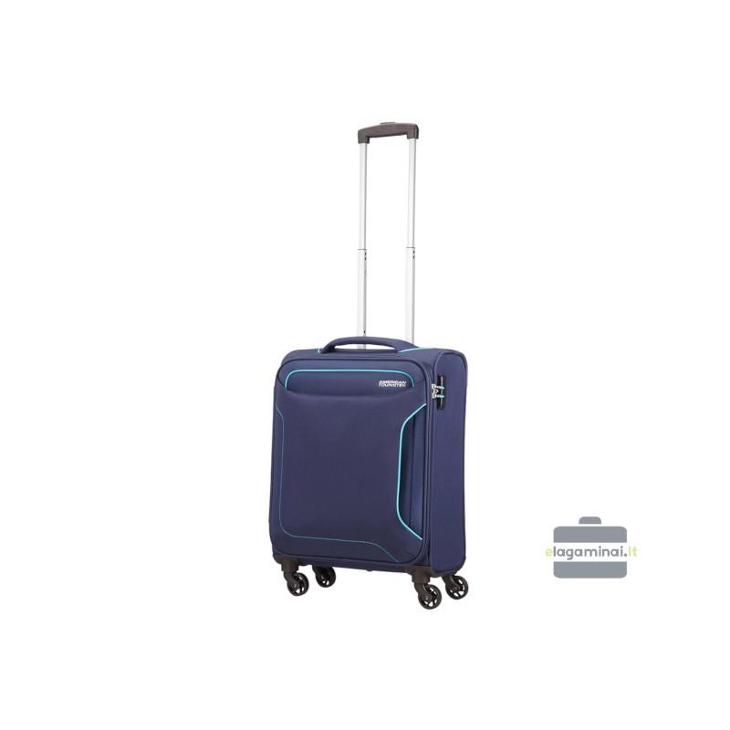 Mažas lagaminas American Tourister Holiday Heat M Tamsiai mėlynas