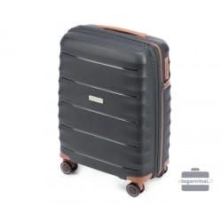 Mažas plastikinis lagaminas Wittchen 56-3T-761 Juodas
