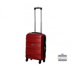 Mažas plastikinis lagaminas Gravitt Travel 710-M Tamsiai raudonas