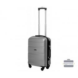 Mažas plastikinis lagaminas Gravitt Travel 710-M Sidabro spalva