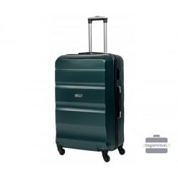 Didelis plastikinis lagaminas Gravitt Travel 710-D Tamsiai žalias