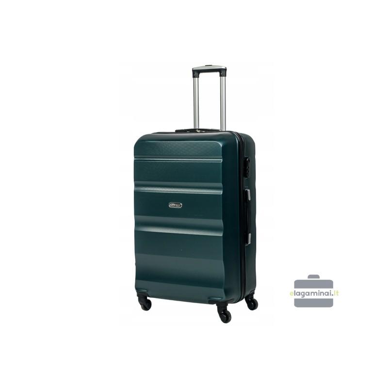 Vidutinis plastikinis lagaminas Gravitt Travel 710-V Tamsiai žalias