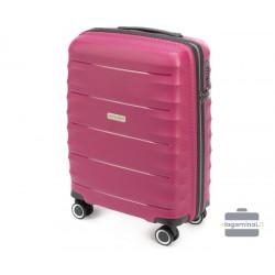 Mažas plastikinis lagaminas Wittchen 56-3T-761 Vyšninė spalva
