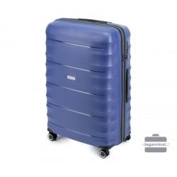 Didelis plastikinis lagaminas Wittchen 56-3T-763-D Mėlynas