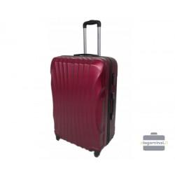 Didelis plastikinis lagaminas Gravitt 126-D Tamsiai raudonas