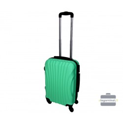 Mažas plastikinis lagaminas Gravitt 126-M Šviesiai žalias
