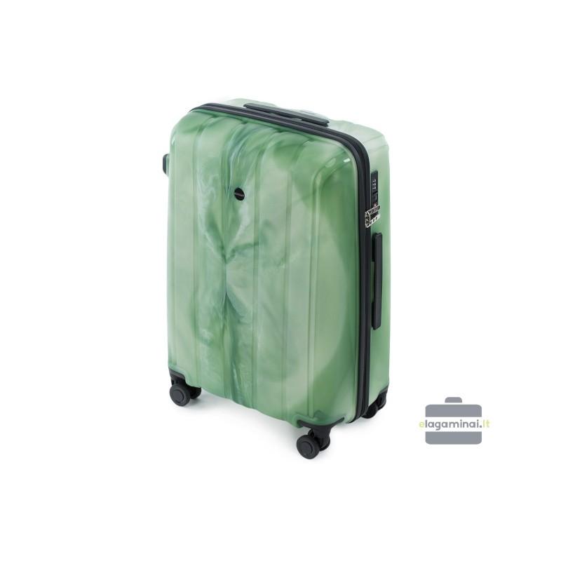 Vidutinis plastikinis lagaminas Wittchen 56-3T-742 Žalias