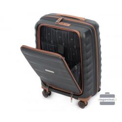 Mažas plastikinis lagaminas Wittchen 56-3T-760 Juodas