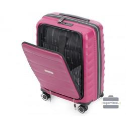 Mažas plastikinis lagaminas Wittchen 56-3T-760 Vyšninė spalva