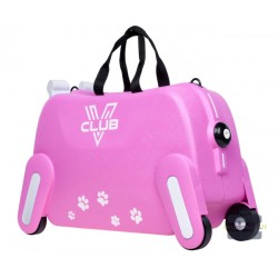 Vaikiškas plastikinis lagaminas V-Club Rožinis