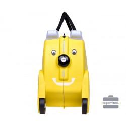 Vaikiškas plastikinis lagaminas V-Club Geltonas
