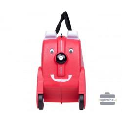 Vaikiškas plastikinis lagaminas V-Club Raudonas