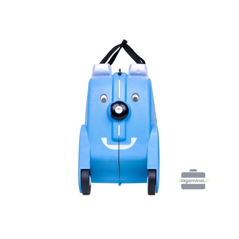 Vaikiškas plastikinis lagaminas V-Club Šviesiai mėlynas