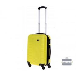 Mažas plastikinis lagaminas Bagia 8080-M Geltonas