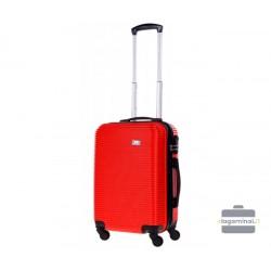 Mažas plastikinis lagaminas Bagia 8080-M Raudonas