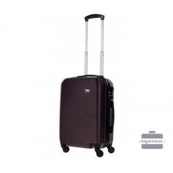 Mažas plastikinis lagaminas Bagia 8080-M Rudas