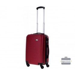 Mažas plastikinis lagaminas Bagia 8080-M Tamsiai raudonas