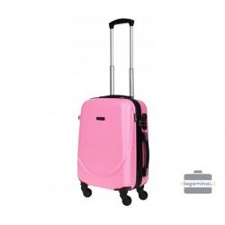 Mažas plastikinis lagaminas Bagia 8091-M Rožinis