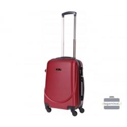 Mažas plastikinis lagaminas Bagia 8091-M Tamsiai raudonas