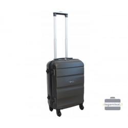 Mažas plastikinis lagaminas Gravitt Travel 710-M Tamsiai pilkas