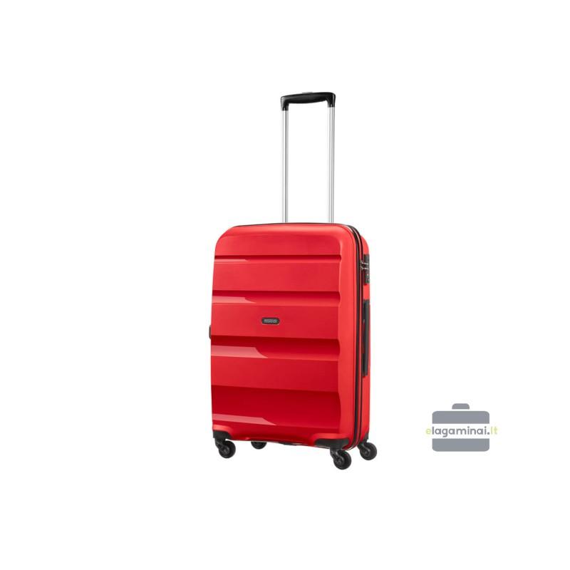 Vidutinis plastikinis lagaminas American Tourister Bon Air V Raudonas