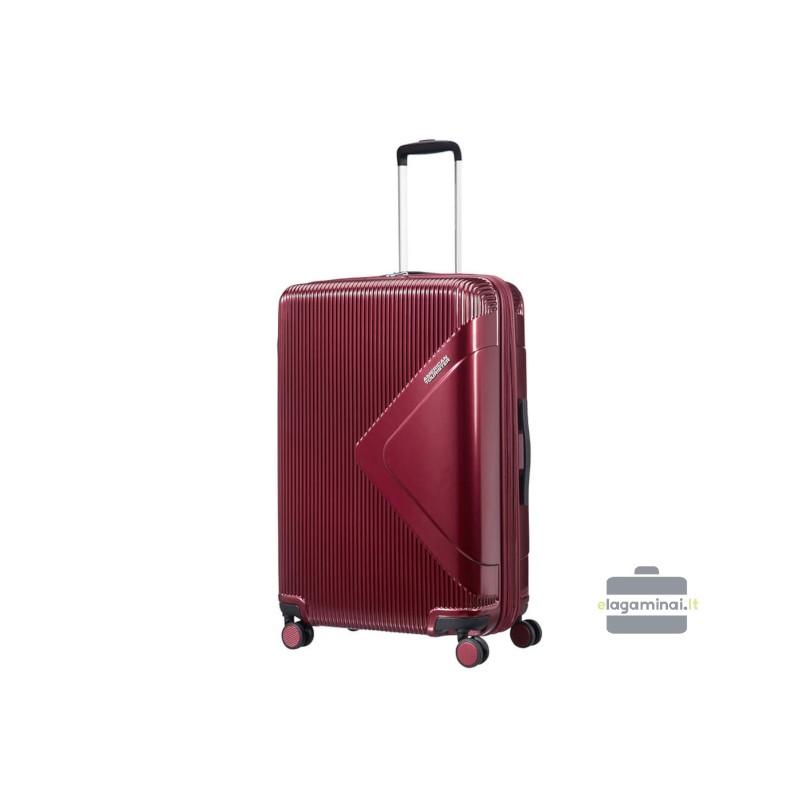 Didelis lagaminas American Tourister Modern Dream D Tamsiai raudonas