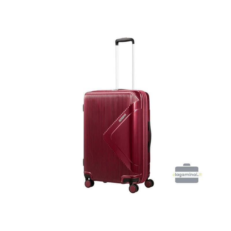 Vidutinis lagaminas American Tourister Modern Dream V Tamsiai raudonas