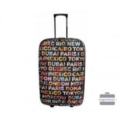Vidutinis medžiaginis lagaminas David Jones 4008-V