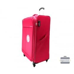 Didelis medžiaginis lagaminas David Jones 5043-D Raudonas