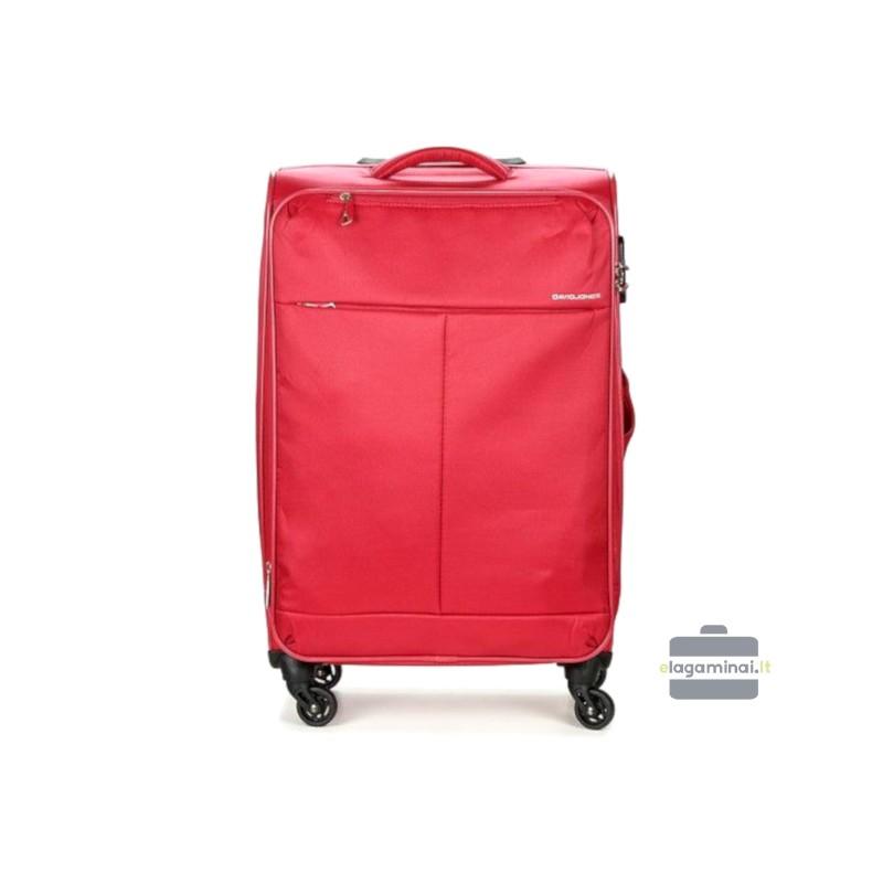 Vidutinis medžiaginis lagaminas David Jones 5043-V Raudonas