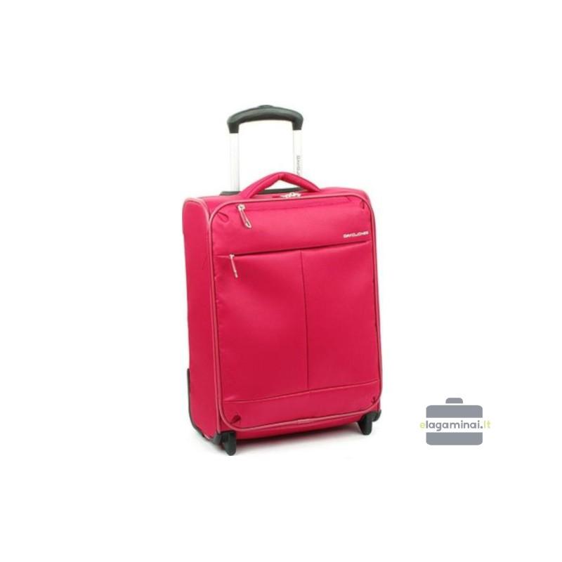 Mažas medžiaginis lagaminas David Jones 5043-M Raudonas