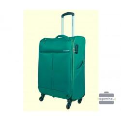 Vidutinis medžiaginis lagaminas David Jones 5043-V Žalias