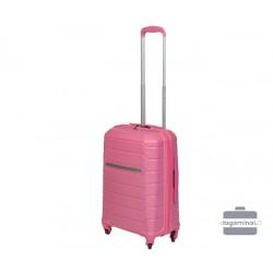 Mažas plastikinis lagaminas Burak PQ-M Rožinis
