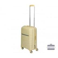 Mažas plastikinis lagaminas Burak PQ-M Smėlio spalva