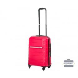 Mažas plastikinis lagaminas Burak PQ-M Tamsiai rožinis