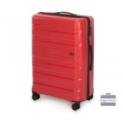 Didelis plastikinis lagaminas Wittchen 56-3T-753-D Raudonas