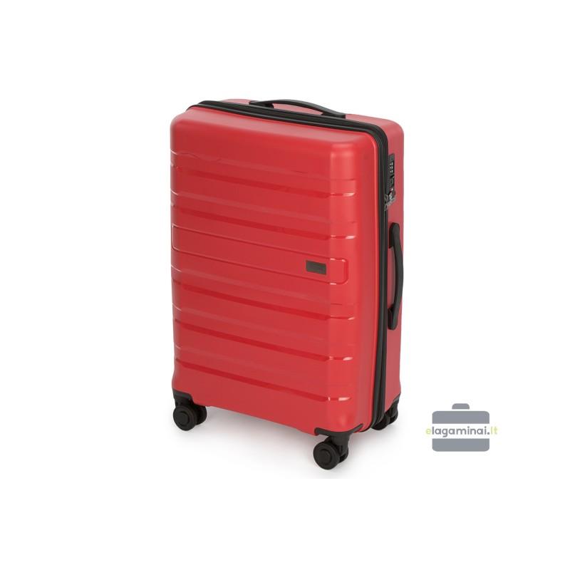 Vidutinis plastikinis lagaminas Wittchen 56-3T-752-V Raudonas