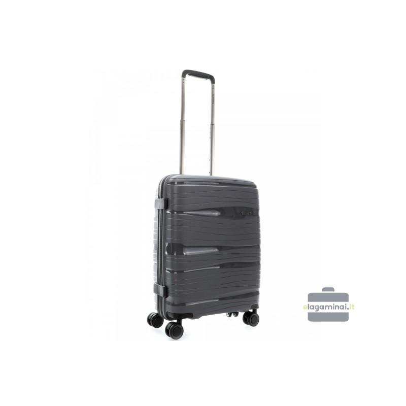 Mažas plastikinis lagaminas Travelite Motion M Pilkas