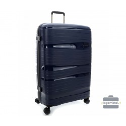 Didelis plastikinis lagaminas Travelite Motion D Tamsiai mėlynas