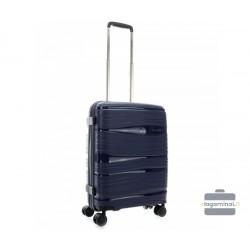 Mažas plastikinis lagaminas Travelite Motion M Tamsiai mėlynas