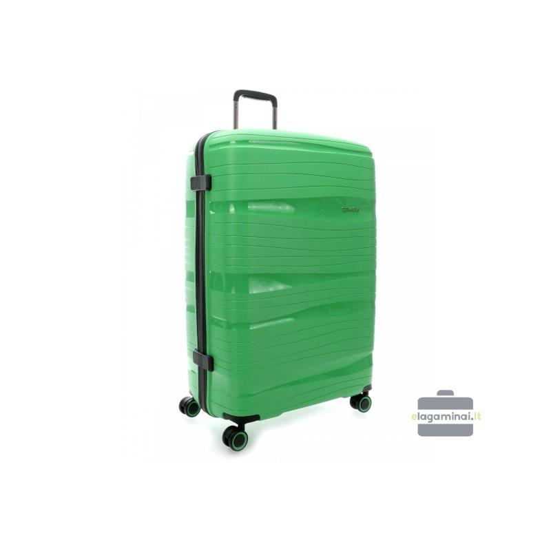 Didelis plastikinis lagaminas Travelite Motion D Žalias