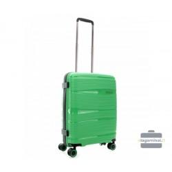 Mažas plastikinis lagaminas Travelite Motion M Žalias