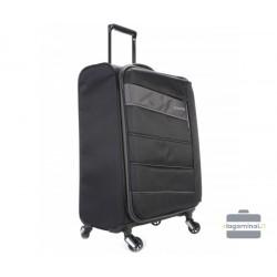 Vidutinis medžiaginis lagaminas Travelite Kite V Juodas